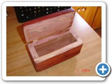 arom cedar jewelry box - open