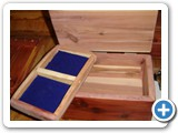 arom cedar jewelry box detail