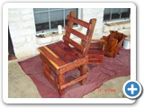 cypress and aromatic cedar chair - front left